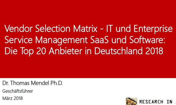Efecte unter den Top 10 ITSM-Herstellern in Deutschland