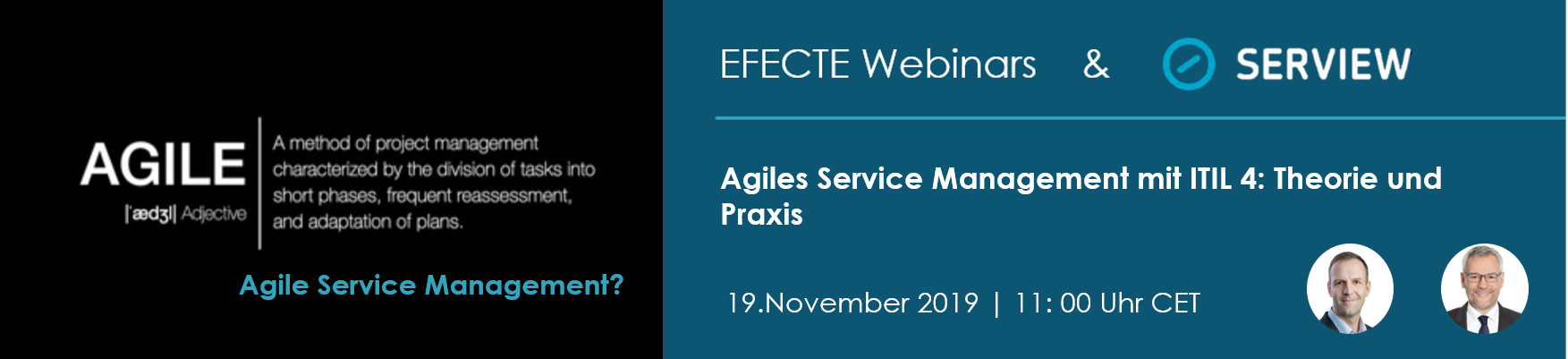Banner agile service management mit itil4