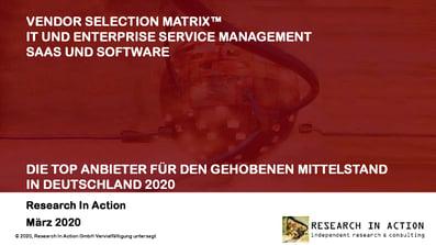 Efecte ranked in German ITSM Market study by RiA